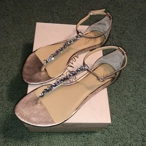 Shoes - Rose gold/silver sandals